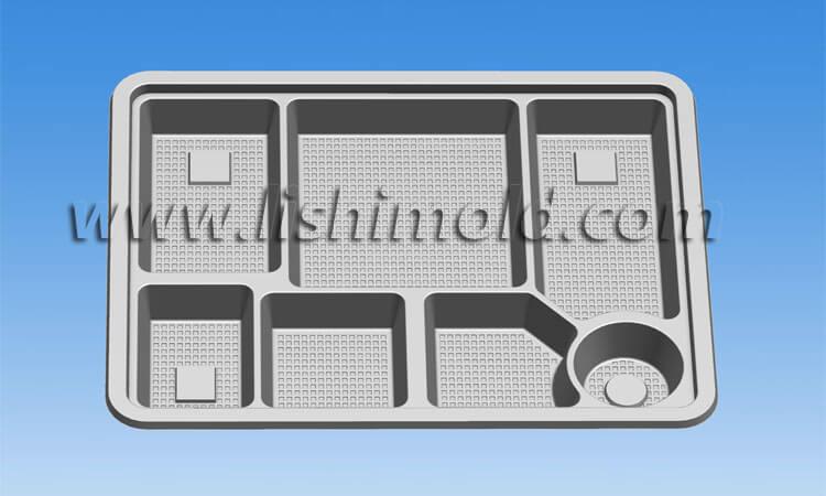 7格一次性饭盒设计图