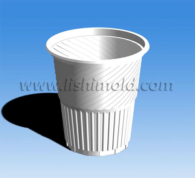 PP螺纹杯设计图