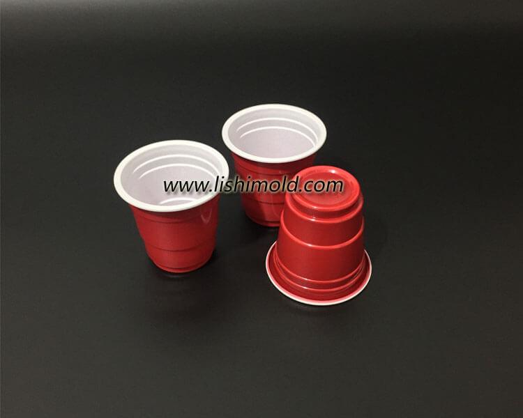 红色卷边ps塑料杯 酒杯