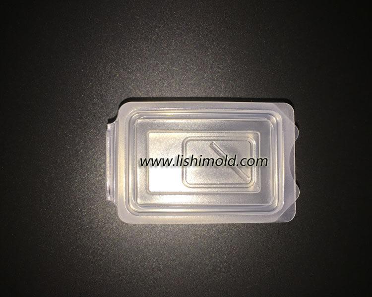 微量食品保鲜盒,寿司包装盒正面闭合