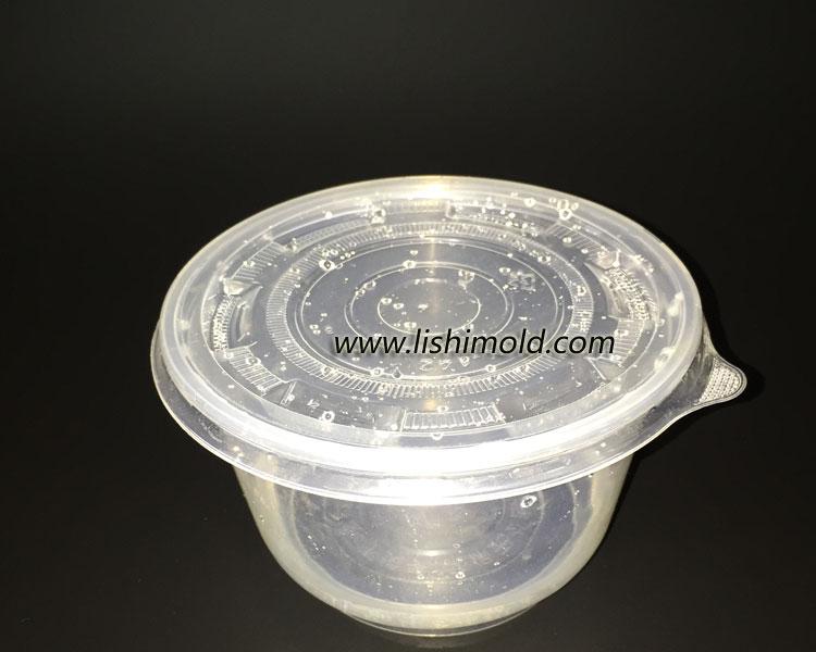 透明塑料面条打包汤盒 侧面
