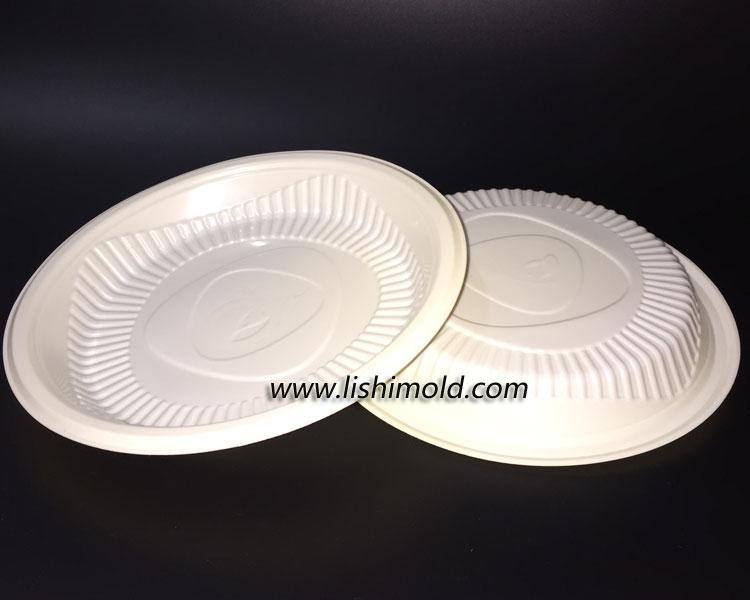 白色不透明一次性塑料PP餐盘