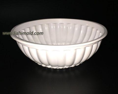 白色塑料面碗