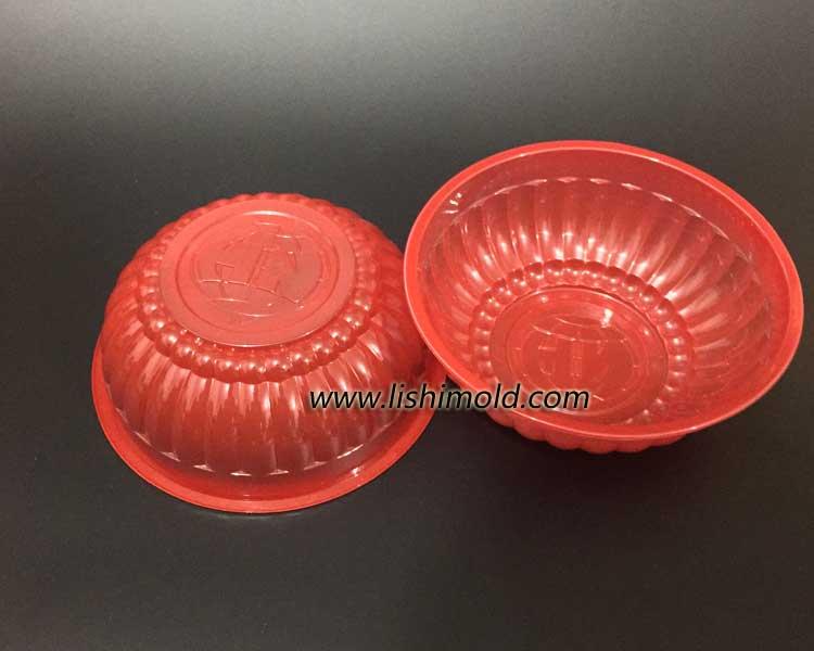 红色一次性塑料打包碗