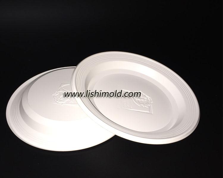 2个一次性塑料盘子