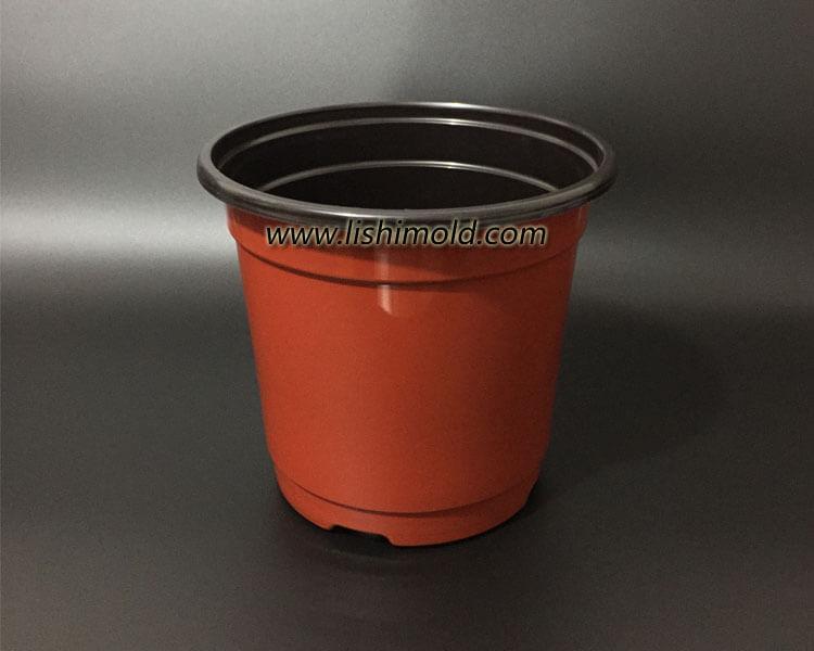 168双色塑料花盆 花卉育苗盆 彩色营养钵 第1张