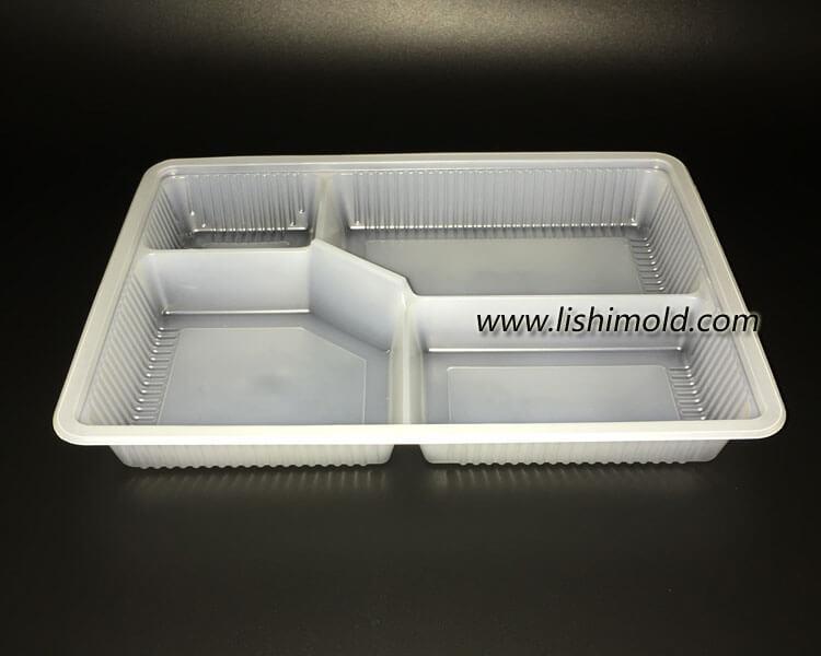一次性塑料餐盒,塑料打包盒 侧面