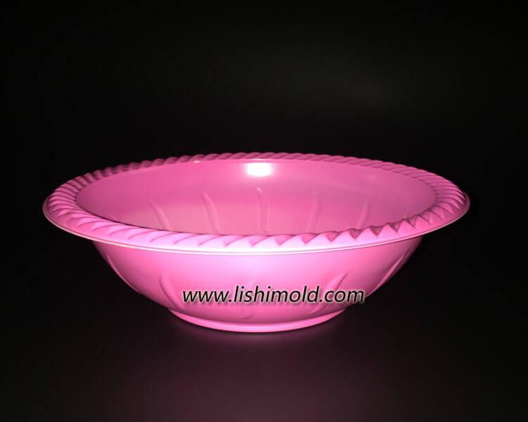 一次性沙拉碗 塑料ps沙拉碗 侧面