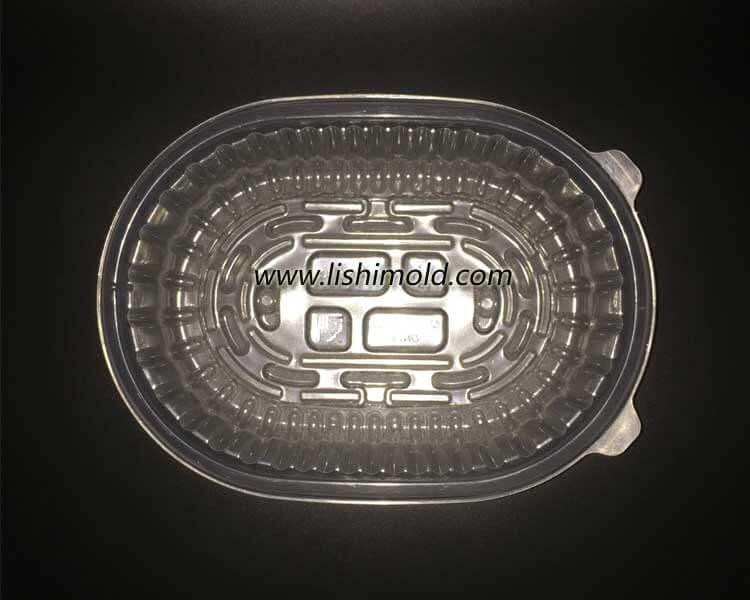 一次性蔬菜透明保鲜盒 透明蔬菜盒 俯视图
