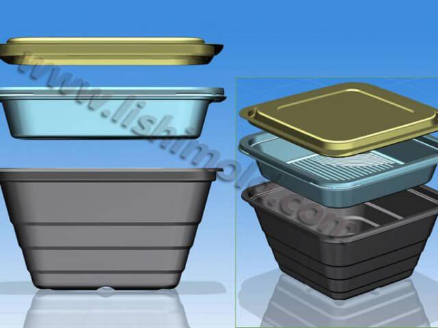 方形打包盒 有盖子 组合3件套装